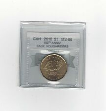 *2010 Sask. Roughriders*Coin Mart Graded Canadian, Loon Dollar,**MS-66**
