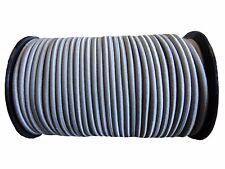 8mm x 50m GREY SHOCK CORD/ELASTIC BUNGEE ROPE Tarpaulin Tie Elasticated Cord
