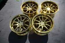18x9.5/10.5 Aodhan DS02 5x114.3 +15 Gold Vaccum Rims Fits 350Z G35 Coupe (Used)