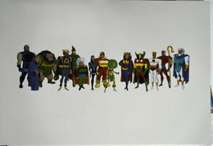 STYLE GUIDE SHEET 3 Adventures Of Superman The Animated Series 1996 WB Rare