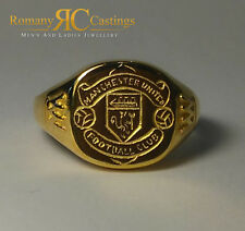 Men's Pulido Manchester United Football Club reparto en 9ct Anillo de oro 5.9 gramos
