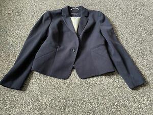 M&S navy blue suit jacket size 12P