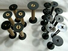 15 vintage Kodak Film METAL & wood take up Spools; 9 are 620s, 6 are wood