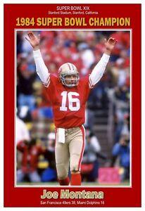 "Joe Montana 1984 Super Bowl Champion 13""x19"" Commemorative Poster"
