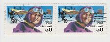 (UST-492) 1991 USA 50c pair H.QUIMBY Air Mail (F)