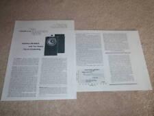 Technics SB-6000a Speaker Review,1977, 2 pgs, Specs