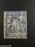 FRANCE - TIMBRE CLASSIQUE 101, type SAGE, oblitéré CACHET ROND, LOT 003