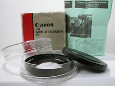Rare CANON Super 8 WIDE ANGLE LENS In Box For Canon 814XL-S & 1014XL-S Super 8
