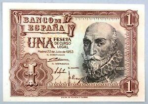 Ek // Billet 1 peseta  Espagne 1953 Marquês Santa Cruz : UNC