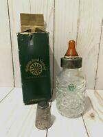 """Vintage Galway Irish Lead Crystal Cut Glass Baby Bottle original Package 6"""""""