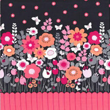 """MICHAEL MILLER """"FLUTTERBY BORDER"""" CX7577 Charcoal by the yard"""