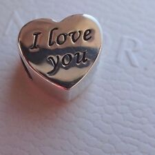 AUTHENTIC PANDORA CHARM  WORDS OF LOVE 791422  I LOVE YOU
