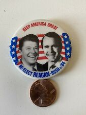 Reagan Bush Keep America Great 84 Button