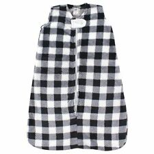 Hudson Baby Unisex Baby Long-Sleeve Plush Sleeping Bag, Sack, Blanket, Black Pla