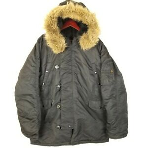 Alpha Industries Full Zip N-3B Lined Parka Jacket Military Cold Weather Mens 2XL