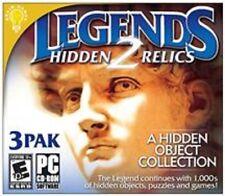 LEGENDS  2 Hidden Relics PC Game---3 Pak--- Brain Games----brand new