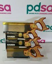 More details for vintage sanderson kayser saben pax brass back steel dovetail saws x4 - m735