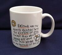 Shoebox Greetings Coffee Mug Cup Hallmark Cards Friends are the Donuts Very Good