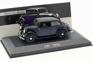 MERCEDES-BENZ 130 (W23) 1934 Dark blue/black - 1/43 - IXO / Altaya