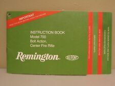 REMINGTON Model 700 Bolt Action, Center Fire Rifle Instruction Book
