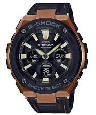 Casio G-Shock G-STEEL *GSTS120L-1A Solar Rose Gold & Black Leather COD PayPal