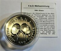 Ghana 50 Cedis 1984 F A O WELT-FISCHEREI-KONFERENZ  Stgl /unc Kapsel +Zertifikat