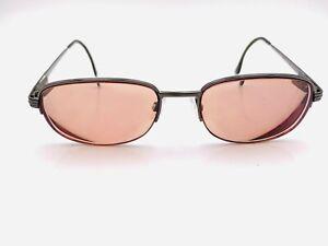 Vintage Yves Saint Laurent YSL 4095 Gunmetal Oval Sunglasses FRAMES ONLY Italy