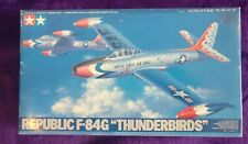 Tamiya 1:48 Republic F-84G THUNDERJET THUNDERBIRDS Team livery Model Kit 61077