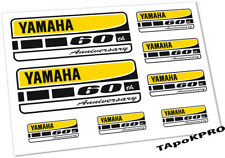 New Yamaha 60th Anniversary graphics moto glossy lamination stickers decals set