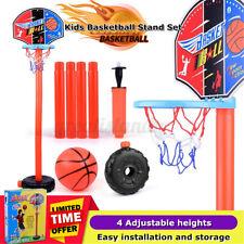 US Kids Adjustable Basketball Hoop Stand Outdoor Indoor Sports Set Game Toy Gift