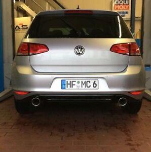 VW GOLF 7 GTI LOOK Set Sportauspuff Heckansatz Auspuff Diffusor TDI TSI GTD VII