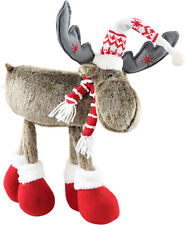 "Hoff Interieur 6835 Reindeer Figurine "" Oslo "" Plush Standing M. Scarf and Hat"