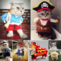 Dog Cat Pet Costume Cosplay Xmas Christmas Clothes Uniform Shirt Suit Puppy