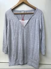 NWT ESPRIT fine knit lightweight pullover sweater 3/4 Sleeve Gray XL