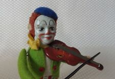 Great Vintage 1930s/40s Schuco Germany Clown Violinist Wind-Up Toy - Working!
