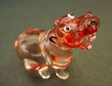 Vidrio Hipopótamo salvaje selva Hipopótamo Reddy ornamento de cristal marrón Cristal animal