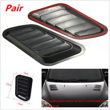 Pair of Car Decorative Air Flow Intake Scoop Turbo Bonnet Vent Cover Hood Superb