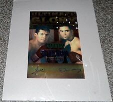 Ultimate Glory 1996 Front Row Collectibles JCC vs DLH COA Top Rank Chavez GBP