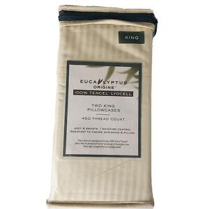 Eucalyptus Origins 450-Thread-Count King Pillowcases in Ivory (Set of 2)