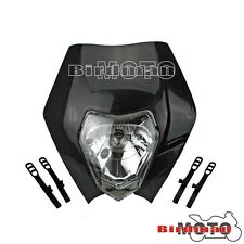 Universal Motorcycle Enduro Road Legal Supermoto Headlight For KTM Honda Black
