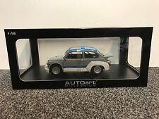 Fiat Abarth 1000 TCR Matt Grey blue stripes 1:18 Autoart