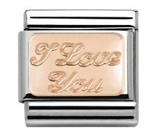 Nomination Charm Rose Gold I Love You RRP £20