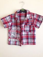 Boys Red Checked Shirt Aged 4 Yrs 🌹