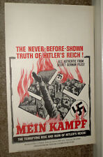 MEIN KAMPF original ROLLED 1961 documentary WW2 movie poster