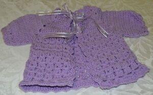 Hand Crochet New Born Baby Jacket