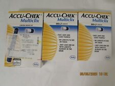 Accuchek Multiclix 1Lancing Device 2 boxes of 100+2 Lancets Expired 2016 sealed