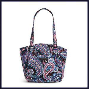 NWT Vera Bradley Glenna Handbag Shoulder Travel Weekend Bag in Haymarket Paisley