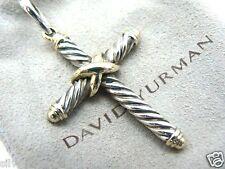 Large David Yurman Authentic Cable Classics Cross Pendant 14kt Gold/925 UNISEX
