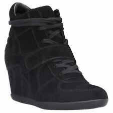 Ash Bowie Womens Black Suede Wedges - 36 EU
