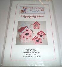 CRAFT DESIGNS PLASTIC CANVAS PATTERN ROSE COTTAGE BIRDHOUSES HOME DECOR 2005